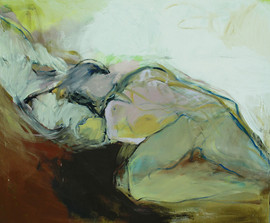 Lying, Oil on Canvas, 130x158