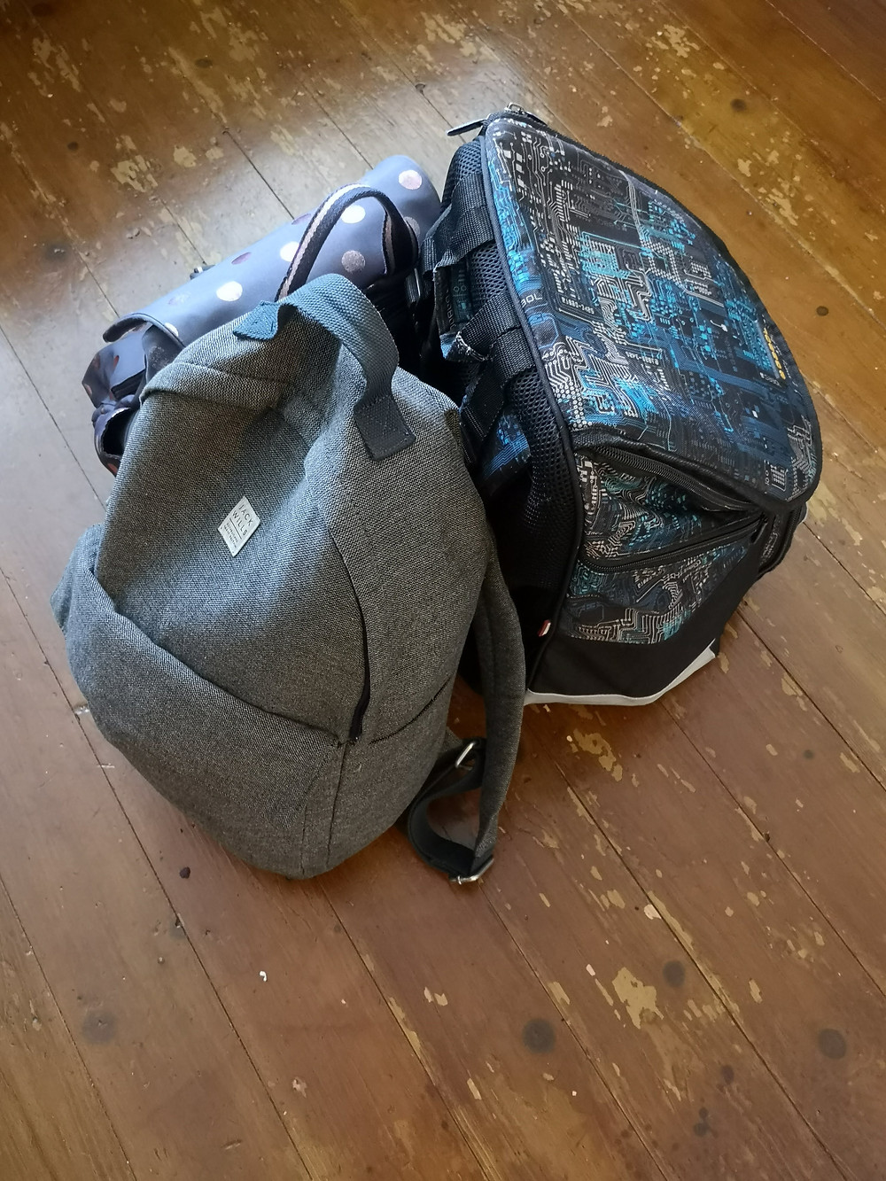 An image of backpacks