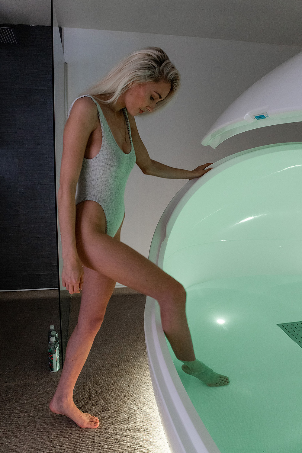 Ease of entry into the Orbit Float Tank