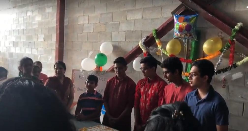 Graduating kids from Sharadakka's  Bhaja