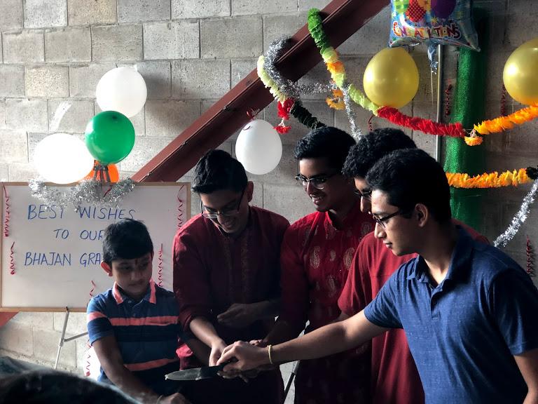 Graduating kids from Bhajans class 3