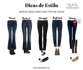 O sapato ideal para cada calça