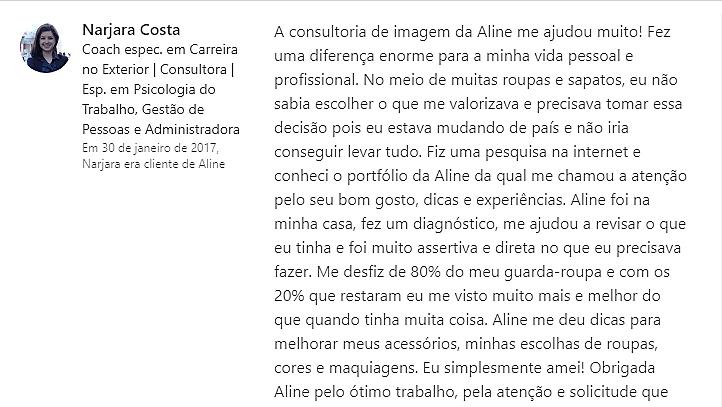 Aline Kilian Consultoria de Imagem e Estilo