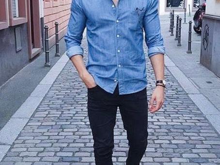 Como usar camisa jeans masculina