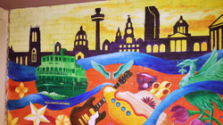 Liverpool skyline and River Mersey