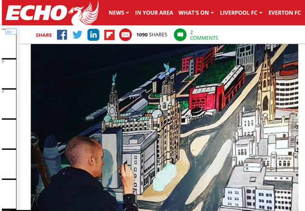 Liverpool Echo Paul Curtis Artwork