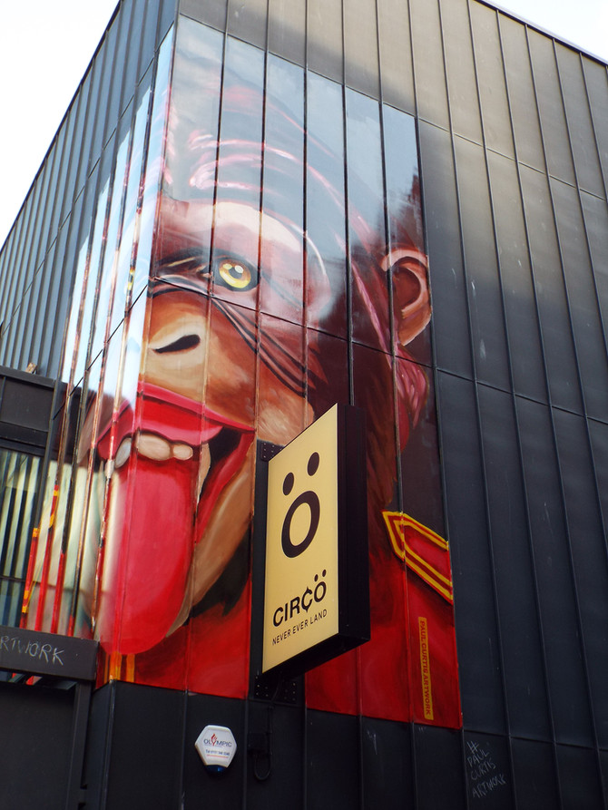 Cheeky Monkey Mural at Circo on Seel Street