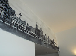 Liverpool waterfront view mural