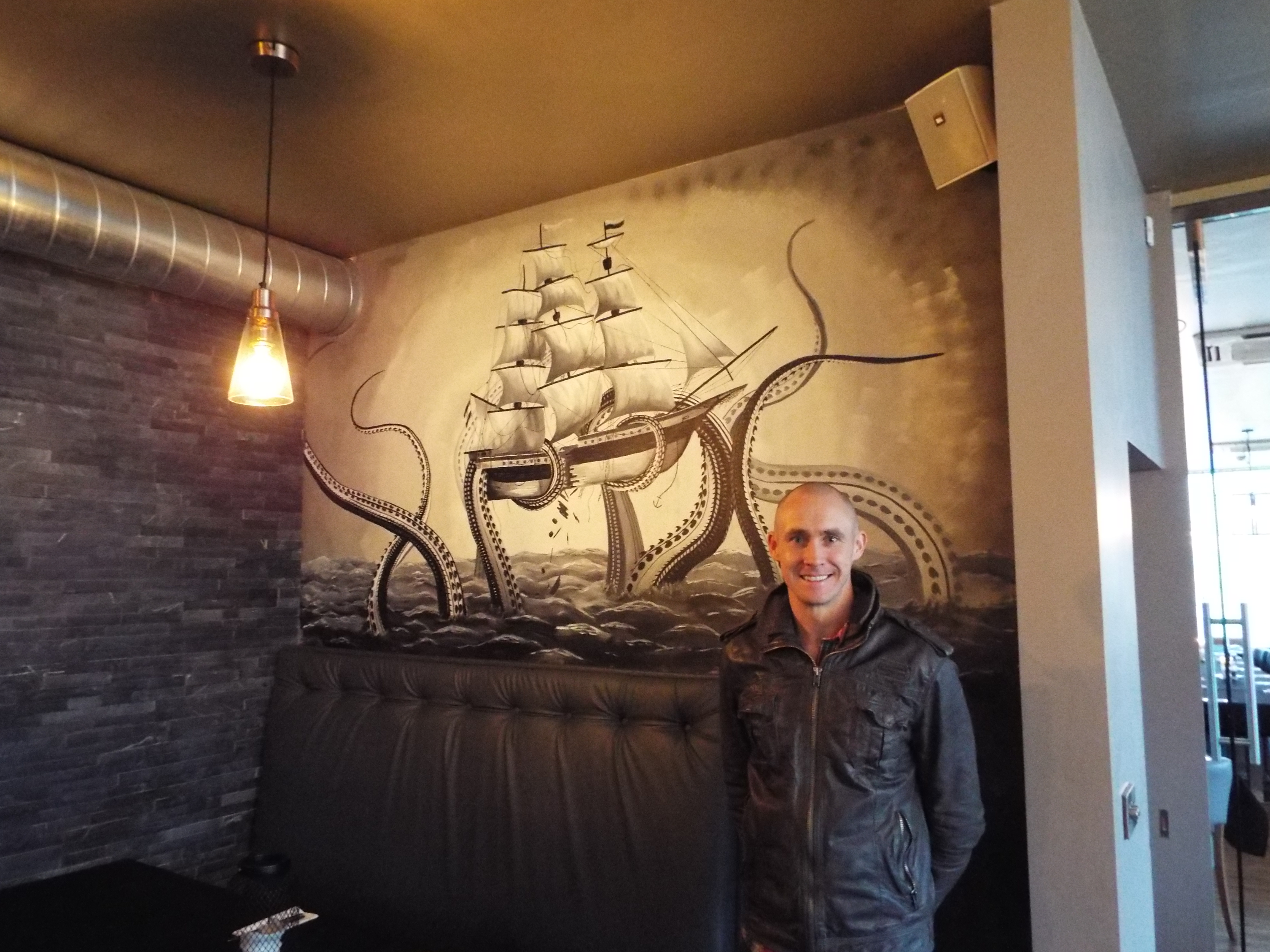 Kraken Galleon Mural