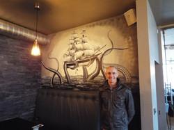Kraken Galleon Mural