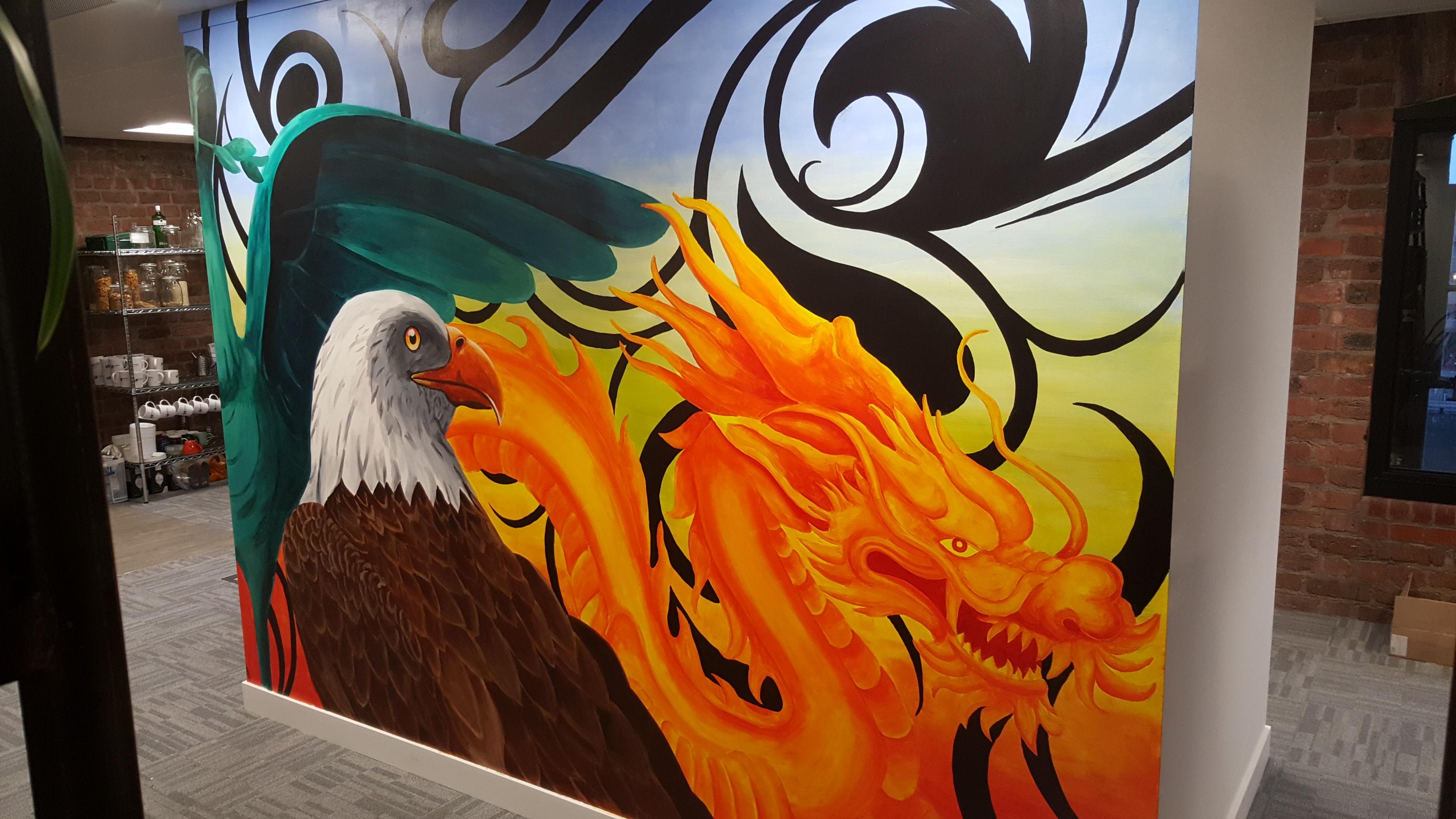 Cragon and Eagle Mural