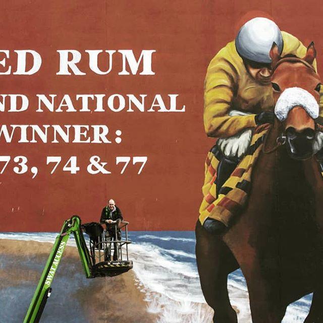 Paul Curtis- Red rum mural
