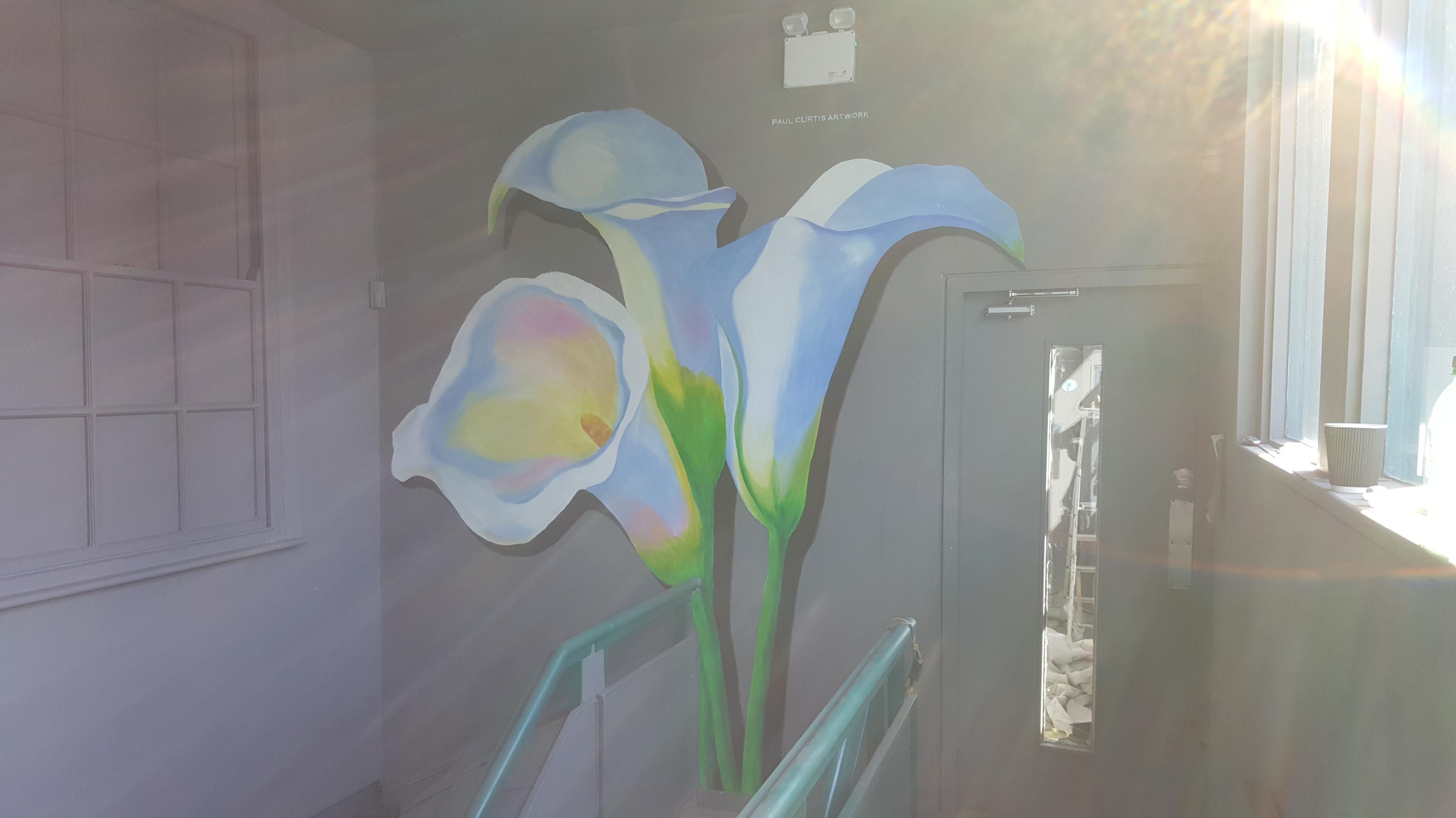 Three lilies mural