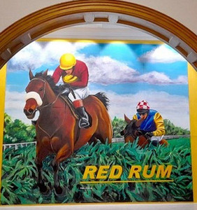 Paul Curtis mural forms centrepiece at Red Rum exhibition at The Atkinson Gallery, Southport.