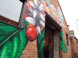 Coffee & Fandisha, Branch Mural