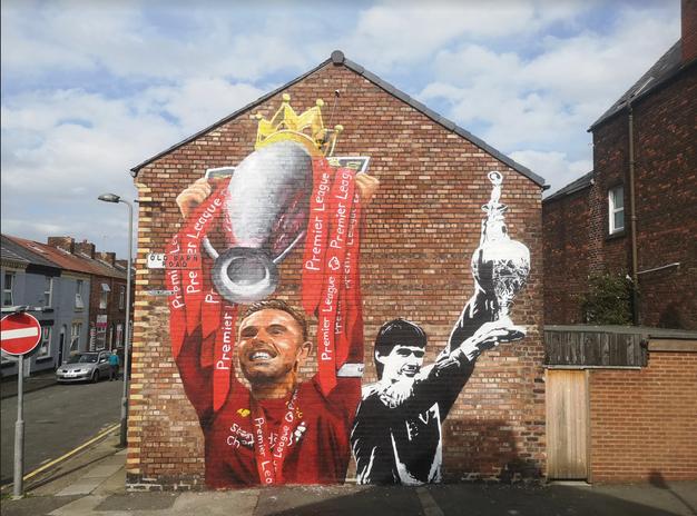 Jordan Henderson Anfield mural