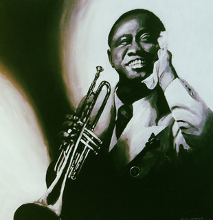 Louie Armstrong Painting