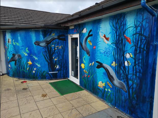 Underwater Seals mural, Liverpool, Thorn