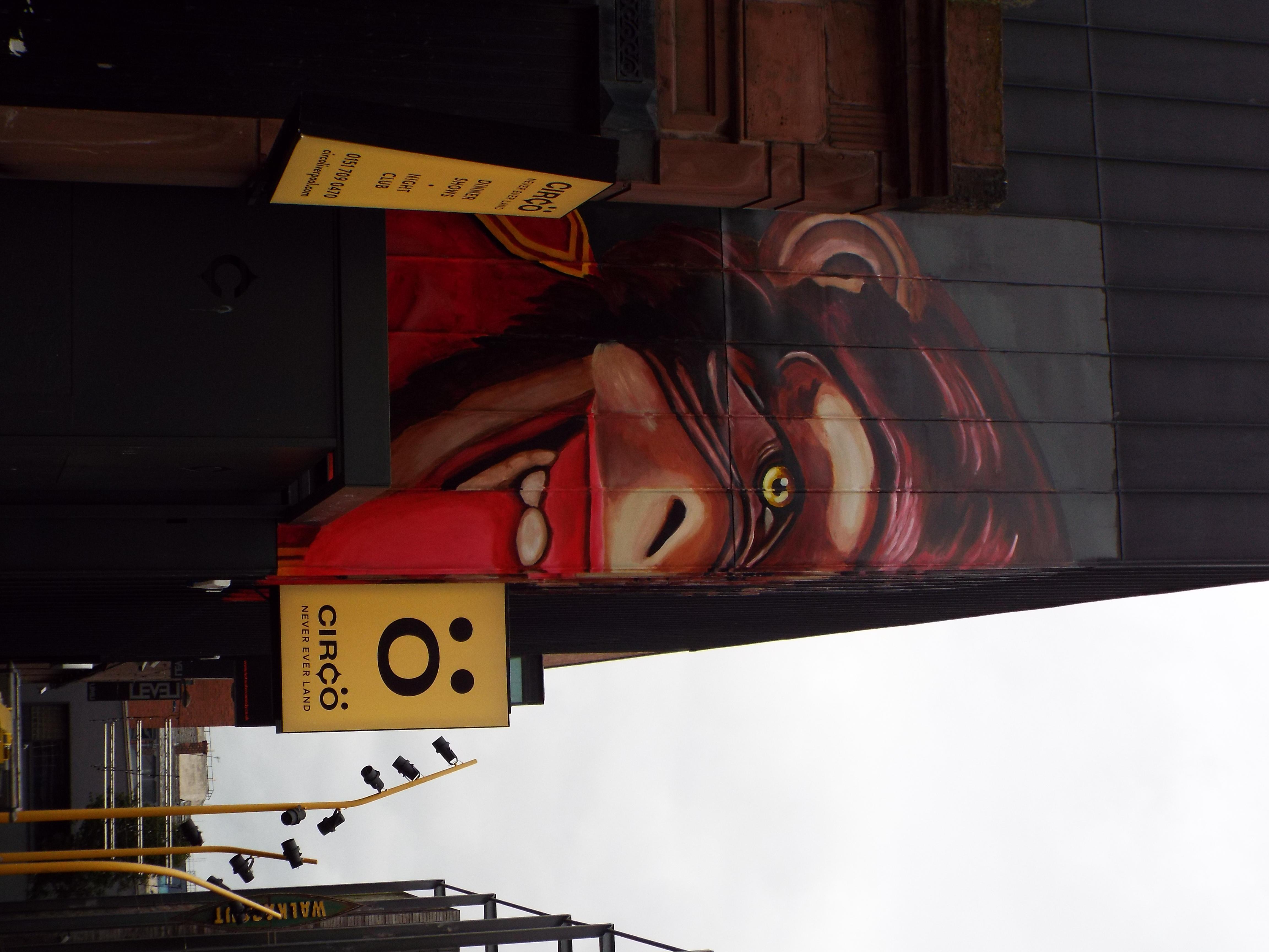 Victorian Circus Monkey Mural