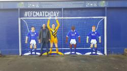 Paul Curtis with Everton Subbuteo Mu