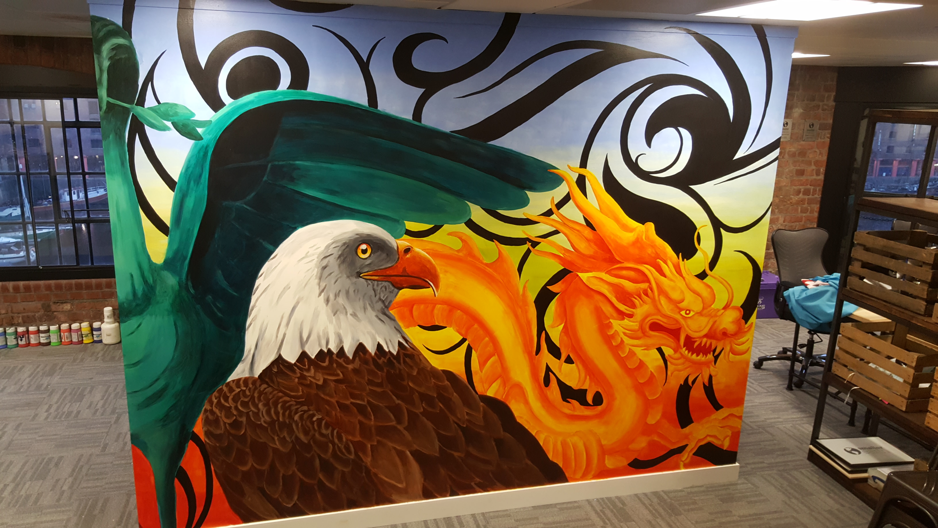 Eagle and Dragon Mural