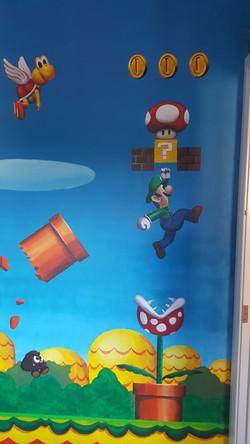 Luigi Mario Bedroom Mural