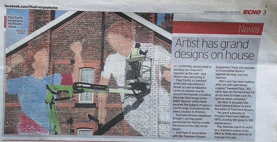 Liverpool Echo, Paul Curtis TRFC Mural