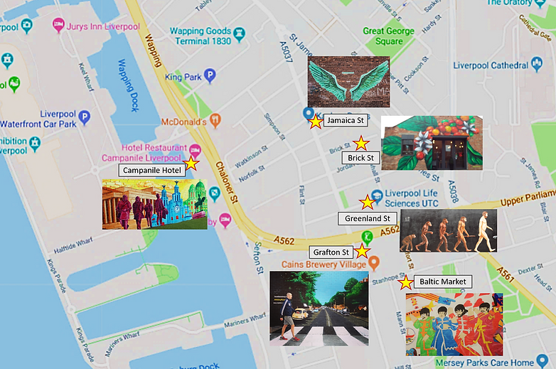 Baltic Triangle Mural Map