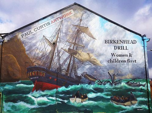 HMS Birkenhead, Women and Children First. Print