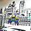 Thumbnail: Liverpool City Black and White (ish) Print 1