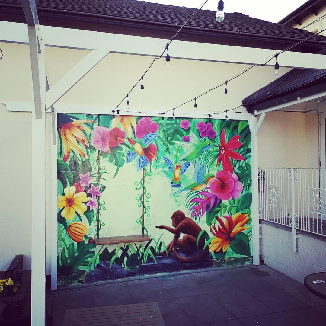 Thornton Hall Jungle Mural