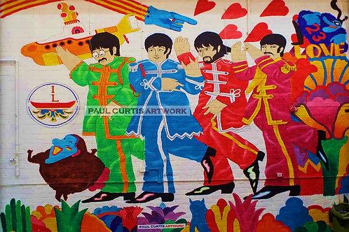 The Baltic Beatles Mural. Flat Print