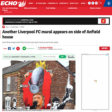 Liverpool echo Hendo mural article
