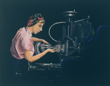 Lady in Munitions factory