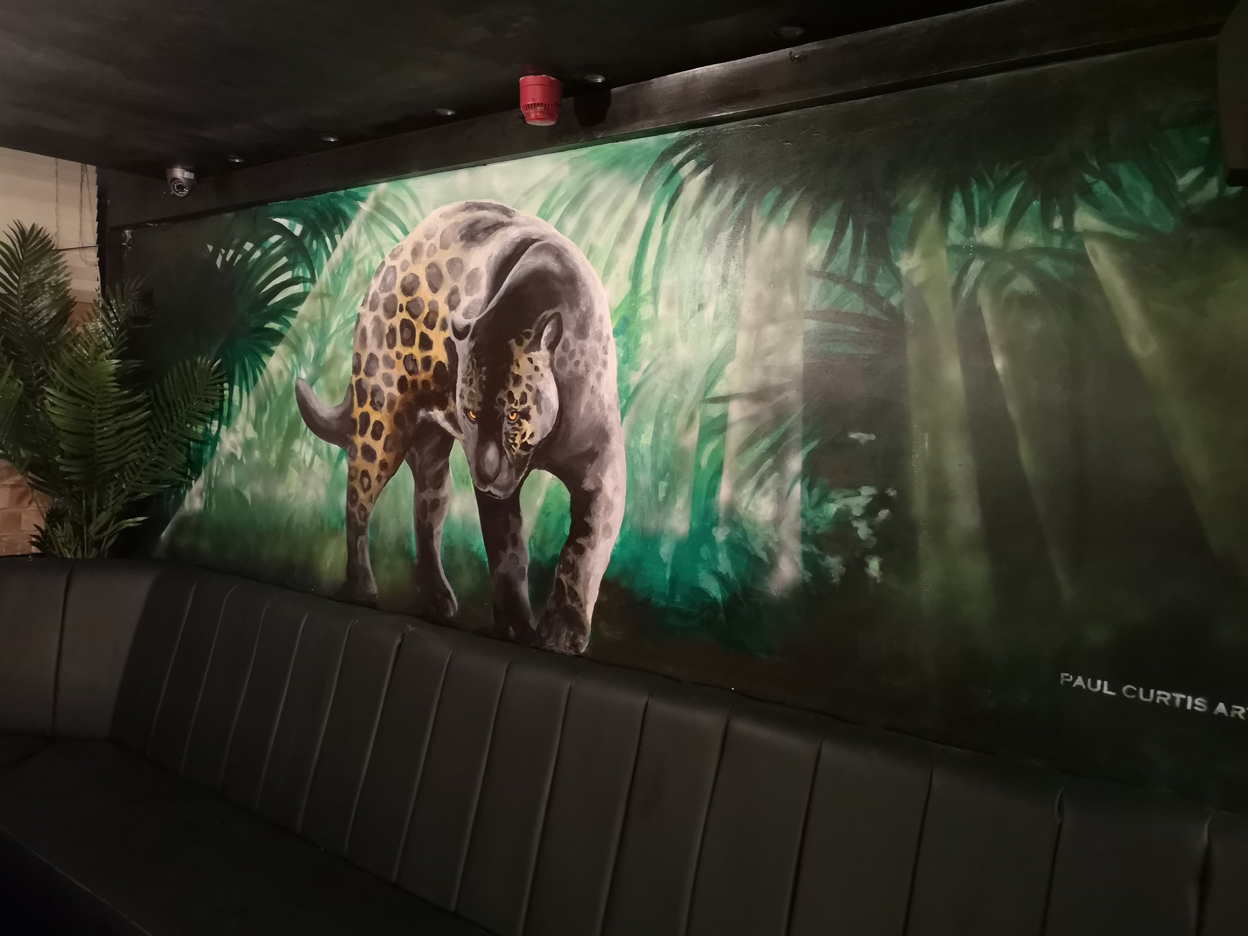 Panther Mural Paul Curtis