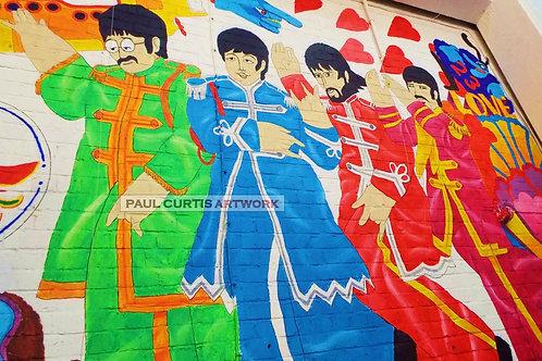 The Baltic Beatles Mural. Angled Print