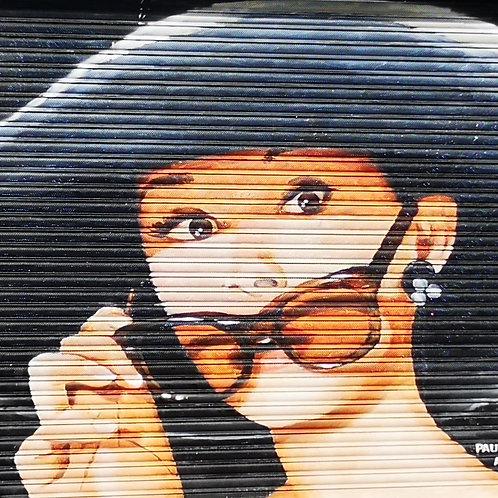 Audrey Hepburn Southport Street Art Print