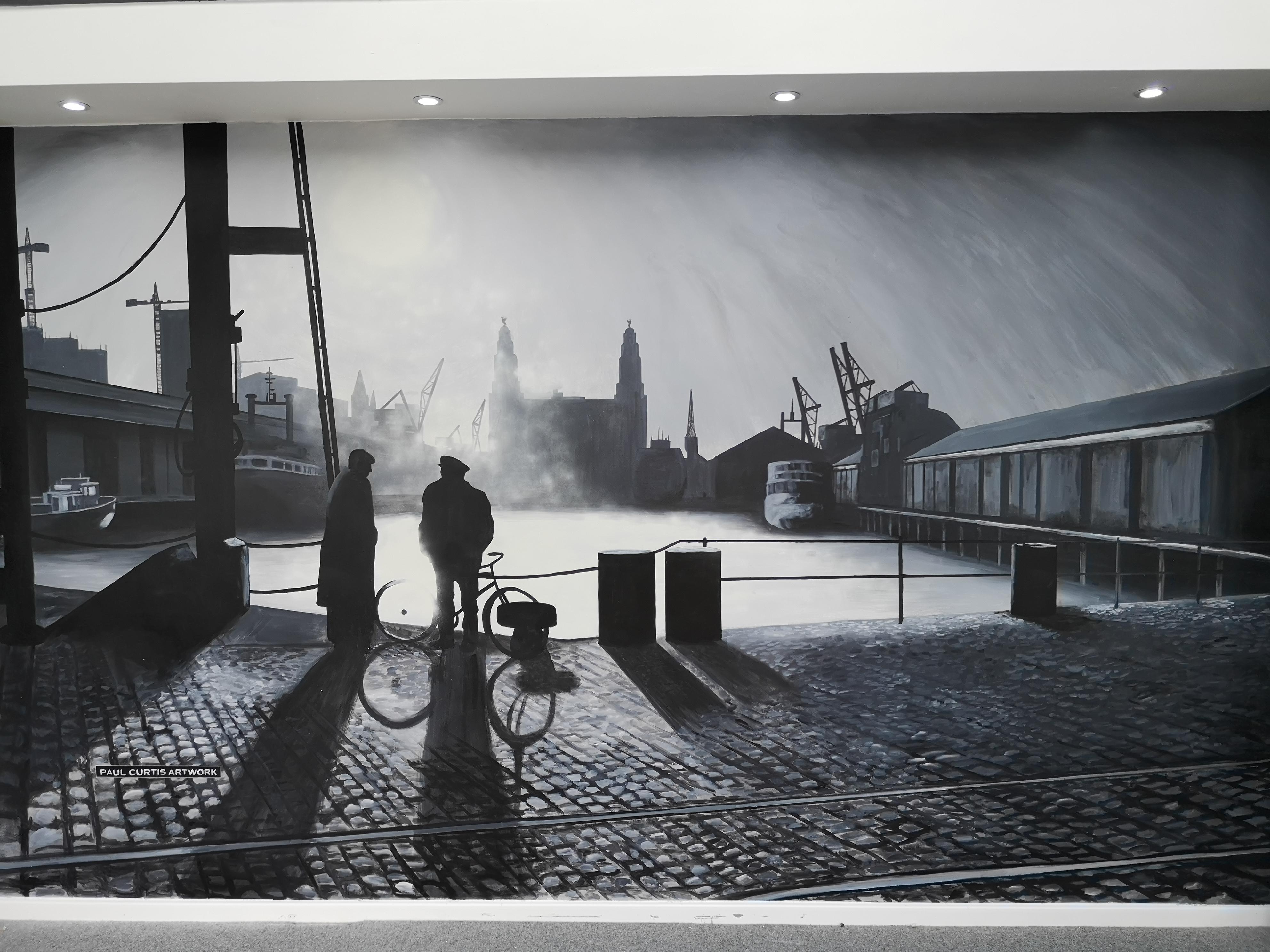 Paul Curtis Docks Painting