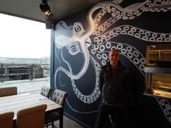 Kraken Squid Mural