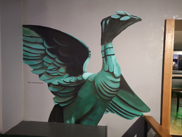 Liver Bird Mural by Paul Curtis at Harrison's Bar, Liverpool