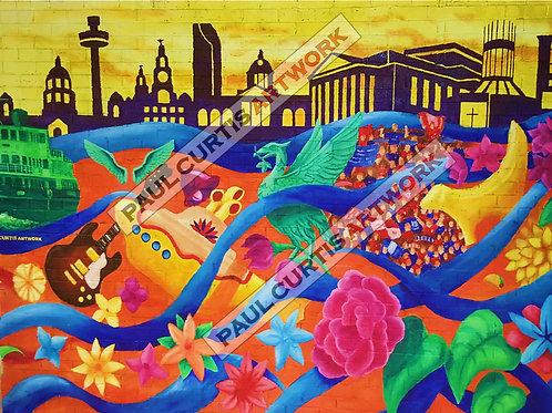 Colourful Liverpool. Print