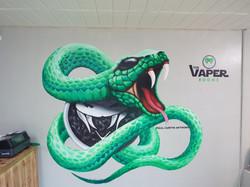 The Vaper Rooms Snake Mural