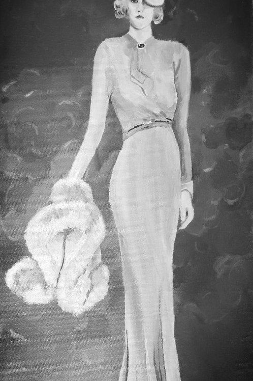 Woman carrying Fur