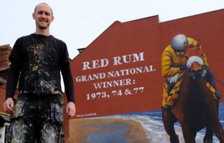 Red Rum mural- Paul Curtis