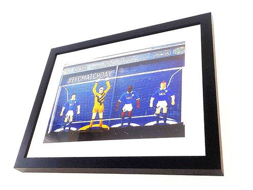 Everton Subbuteo Mural. Print.