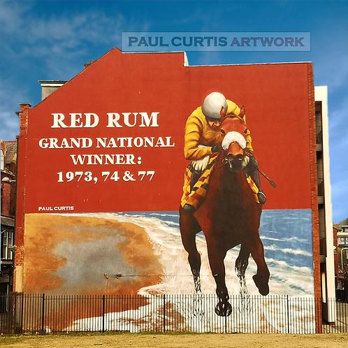 Red Rum Southport Street Art Print