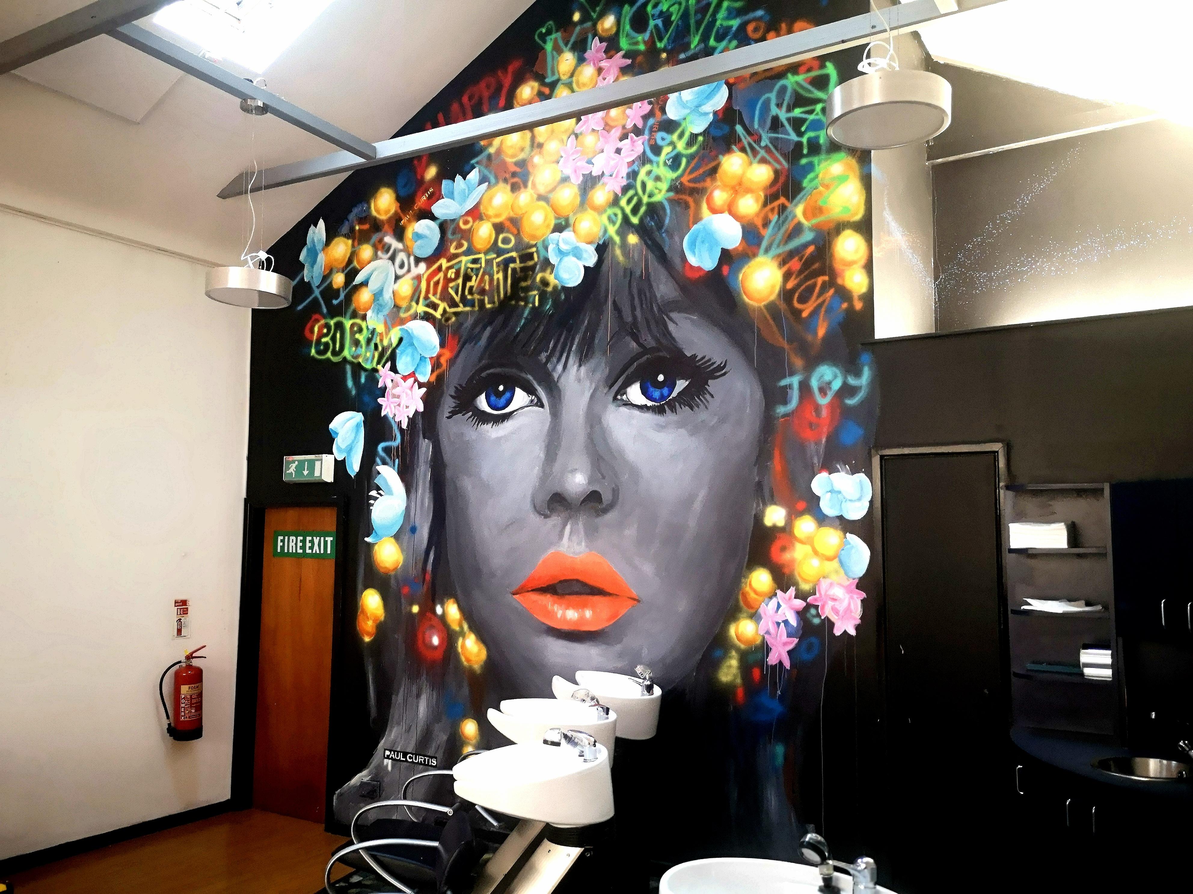 Graffiti girl mural, Liverpool