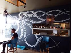 Kraken Giant Squid Mural