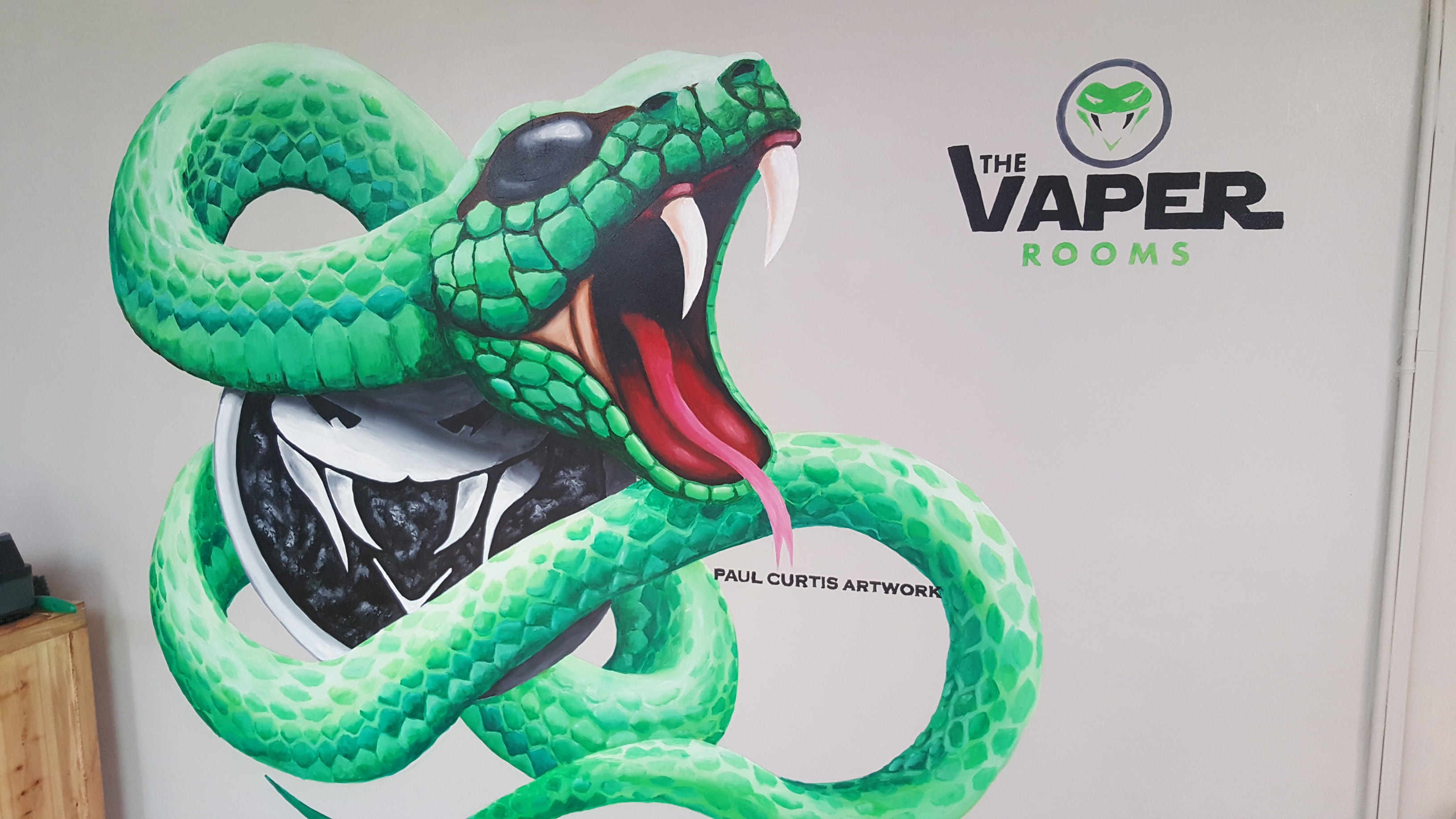 The Vaper Rooms Snake Mural