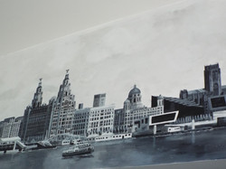 Liverbuilding waterfront view mural